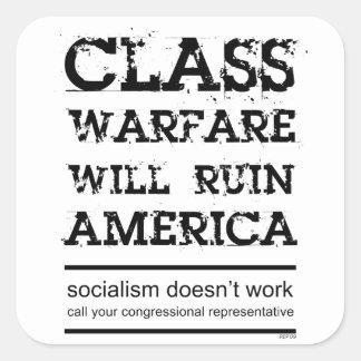 Class Warfare Square Sticker