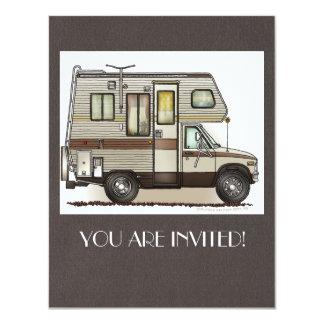 ClassC Camper RV Magnets 4.25x5.5 Paper Invitation Card