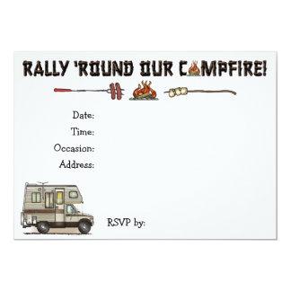 ClassC Camper RV Magnets 5x7 Paper Invitation Card