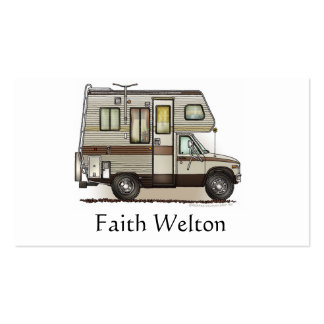 ClassC Camper RV Magnets Business Cards