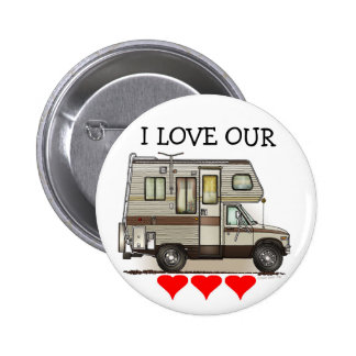 ClassC Camper RV Magnets Button