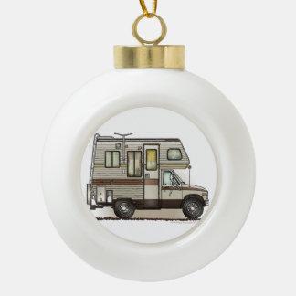 ClassC Camper RV Magnets Ceramic Ball Christmas Ornament