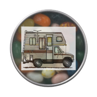 ClassC Camper RV Magnets Jelly Belly Candy Tins