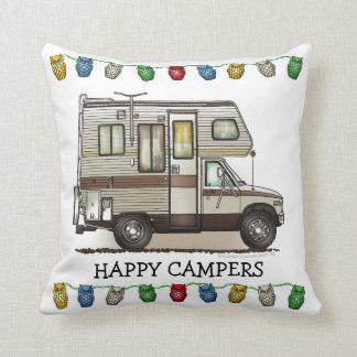 ClassC Camper RV Magnets Throw Pillow