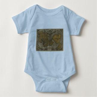 Classic 1531 Antique World Map by Oronce Fine Baby Bodysuit