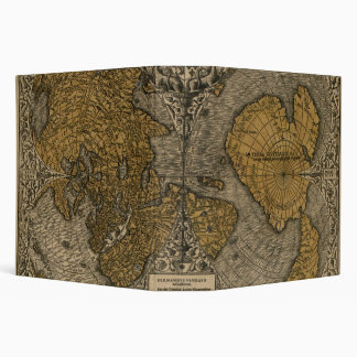 Classic 1531 Antique World Map by Oronce Fine 3 Ring Binder