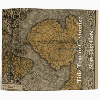 Classic 1531 Antique World Map by Oronce Fine Binders