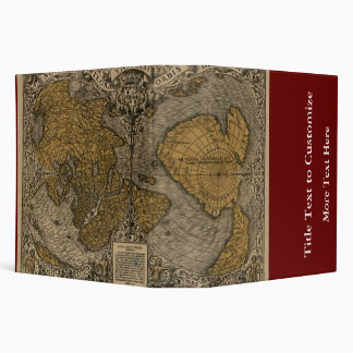 Classic 1531 Antique World Map by Oronce Fine Binder