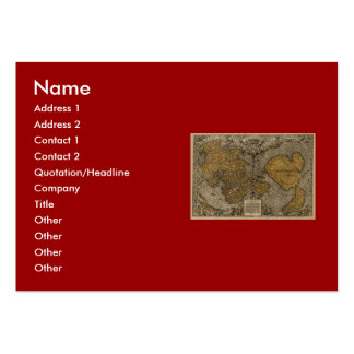 Classic 1531 Antique World Map by Oronce Fine Large Business Cards (Pack Of 100)
