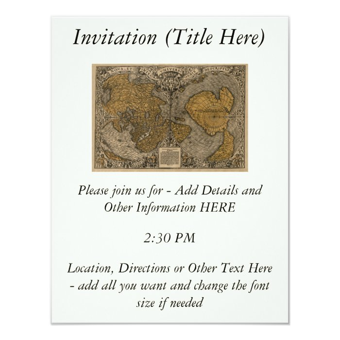 Classic 1531 Antique World Map by Oronce Fine Card