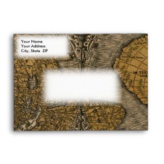 Classic 1531 Antique World Map by Oronce Fine Envelope