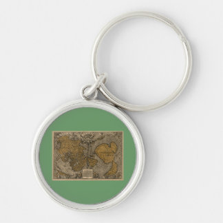 Classic 1531 Antique World Map by Oronce Fine Keychain