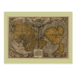 Classic 1531 Antique World Map by Oronce Fine Postcard