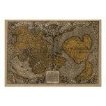 Classic 1531 Antique World Map by Oronce Fine Print