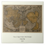 Classic 1531 Antique World Map by Oronce Fine Ceramic Tile