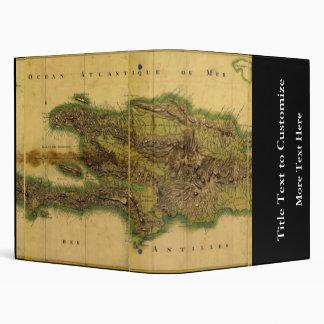 Classic 1805 Antiquarian Map of Hispaniola 3 Ring Binder