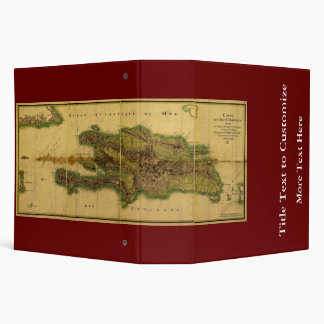 Classic 1805 Antiquarian Map of Hispaniola Binder