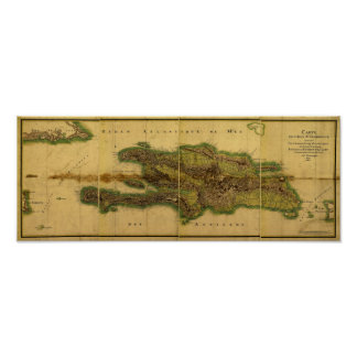 Classic 1805 Antiquarian Map of Hispaniola Posters