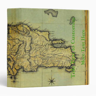 Classic 1823 Antiquarian Map of Hispaniola & Haiti 3 Ring Binder