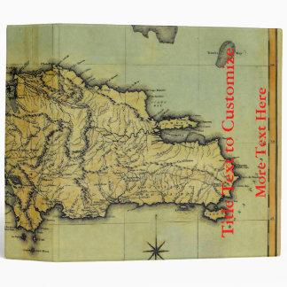Classic 1823 Antiquarian Map of Hispaniola & Haiti Binder