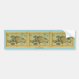 Classic 1823 Antiquarian Map of Hispaniola & Haiti Car Bumper Sticker