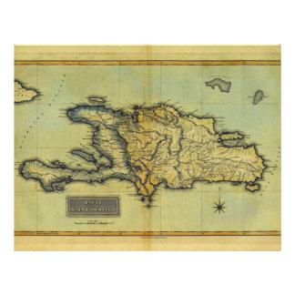 "Classic 1823 Antiquarian Map of Hispaniola & Haiti 8.5"" X 11"" Flyer"