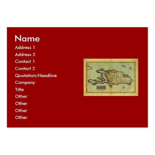 Classic 1823 Antiquarian Map of Hispaniola & Haiti Large Business Card
