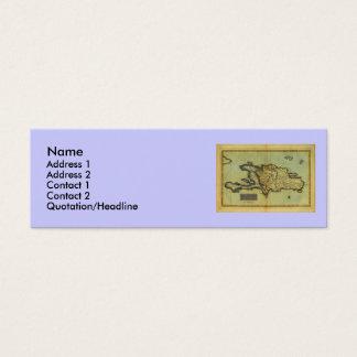 Classic 1823 Antiquarian Map of Hispaniola & Haiti Mini Business Card