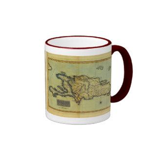 Classic 1823 Antiquarian Map of Hispaniola & Haiti Coffee Mug