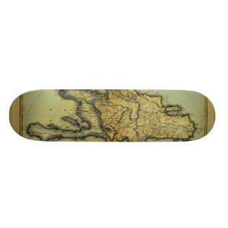 Classic 1823 Antiquarian Map of Hispaniola & Haiti Custom Skate Board
