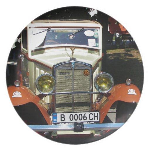 Classic 1928 Berliet. Dinner Plate