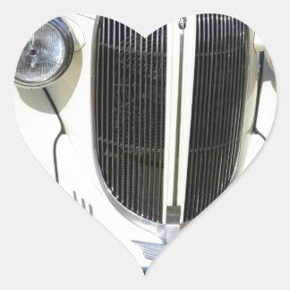 Classic 1930s V8 Grille Heart Sticker