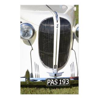 Classic 1930s V8 Grille Stationery Design