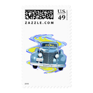 CLASSIC 1938 CADILLAC POSTAGE STAMP
