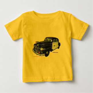 Classic_1947_Plymouth_Police_Car_Texturized Baby T-Shirt