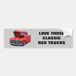 Classic 1950's Chevrolet Pickup Truck Bumper Sticker