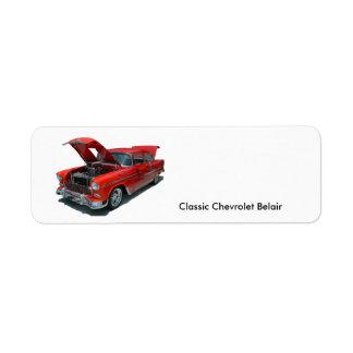 Classic 1950's Era Chevrolet Belair address label