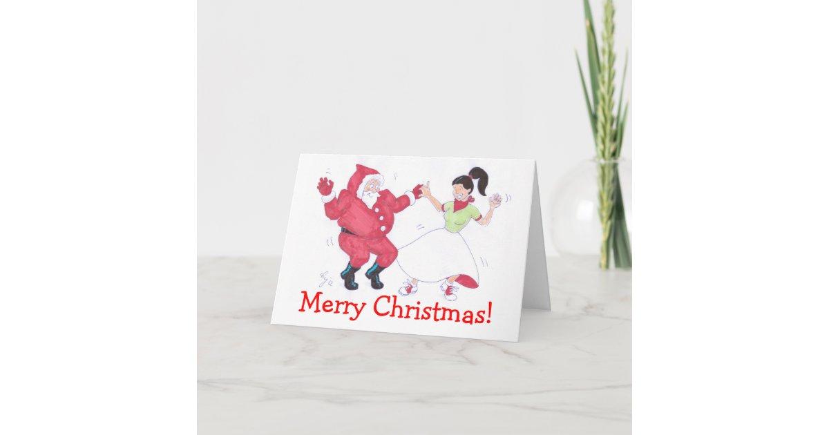 Classic 1950s Jive Dancing Christmas card | Zazzle.com