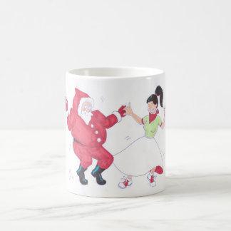 Classic 1950s Jive Dancing Christmas Coffee Mug