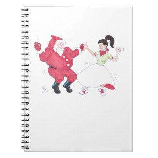 Classic 1950s Jive Dancing Christmas Notebook