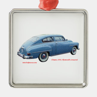 Classic_1951_Plymouth_Concord_Texturized Christmas Tree Ornament