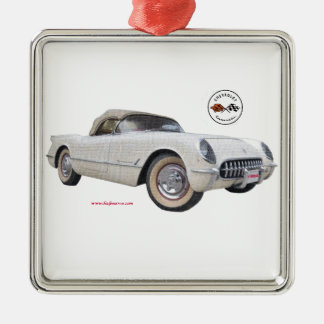 Classic_1954_Corvette_Texturized Ornamento De Navidad