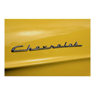 Classic 1955 Chevrolet  car logo Poster
