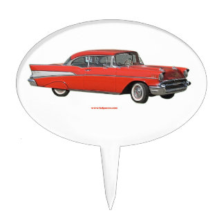 Classic_1957_Chevrolet_Red_texturizer Cake Topper