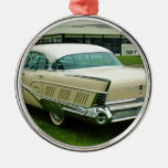 Classic 1958 Buick Limited. Round Metal Christmas Ornament