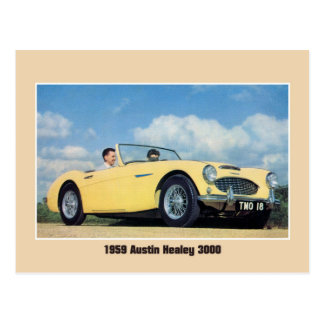 Classic 1959 British sports car convertible Postcard