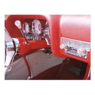 Classic 1959 Coronet Car Dash Photograph Postcard