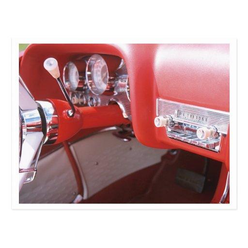 Classic 1959 Coronet Car Dash Photograph Postcards