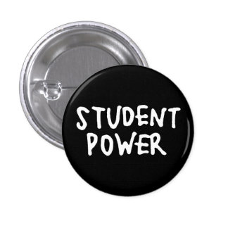 Classic 1960s Student Power Protest Button