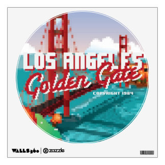 Classic 1980s L.A Golden Gate Video game box art Wall Decal